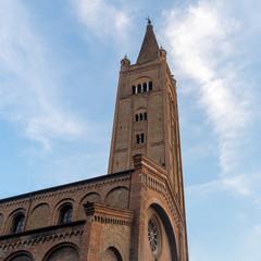 Fototapete - Facade of San Mercuriale church in Forli, Emilia Romagna