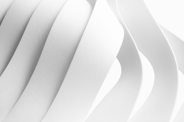 Structure with wavy white elements, abstract background..