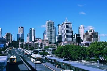 Brisbane city, Australia. Vintage filtered colors style.