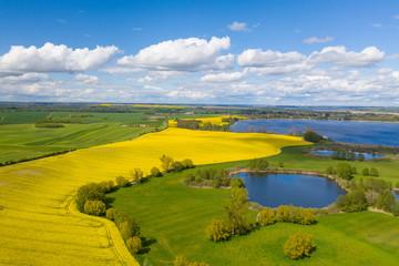 Aussicht auf den Uckersee und die Uckermark bei Fergitz