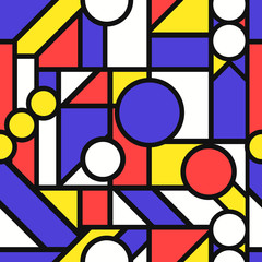 vector modern geometric seamless pattern on black