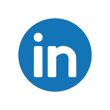 linkedin flat style icon vector design