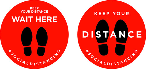 Keep your distance signage icon Fotobehang