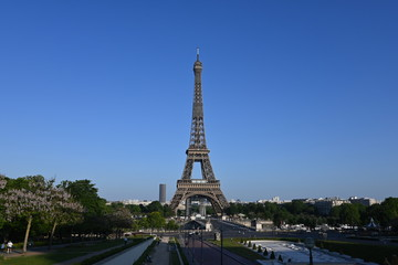 Wall Mural - Eiffel Tower in Paris France is an amazing structure and a wonder of the world