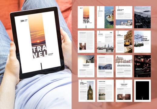 Digital Travel Magazine Ebook Layout