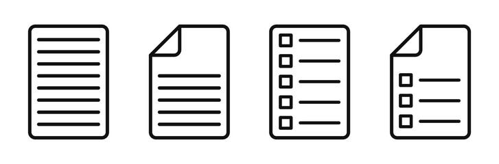 Document Symbol Set. Document vector icons isolated design.Edit document symbol, logo illustration. Flat style icons set.Vecor