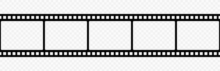Film strip icon.Video tape photo film strip frame vector.Vector illustrarion