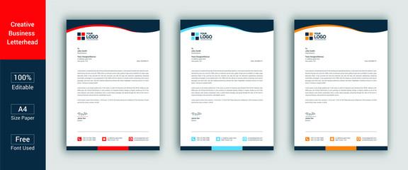Professional Letterhead Template Modern Business Letterhead Design Template