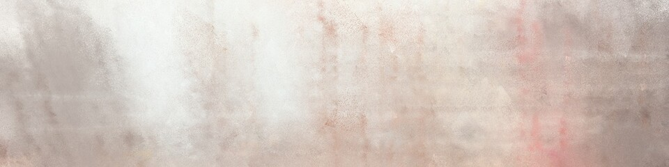 wide art grunge abstract painting background graphic with silver, linen and antique white colors and space for text or image. can be used as horizontal header or banner orientation Wall mural