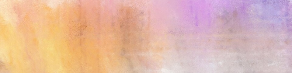 wide art grunge abstract painting background texture with tan, baby pink and thistle colors and space for text or image. can be used as postcard or poster Wall mural