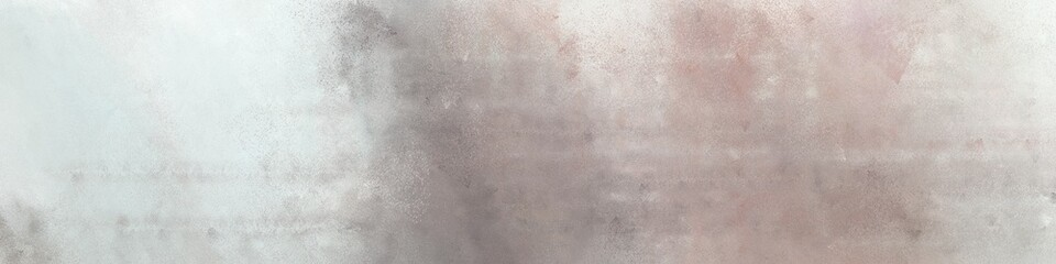 wide art grunge abstract painting background texture with pastel gray, light gray and rosy brown colors and space for text or image. can be used as horizontal background texture Wall mural