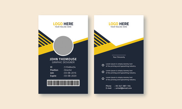 Creative and Clean ID Card Design Template
