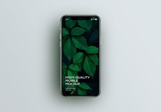 Green Phone Mobile Device App Mockup
