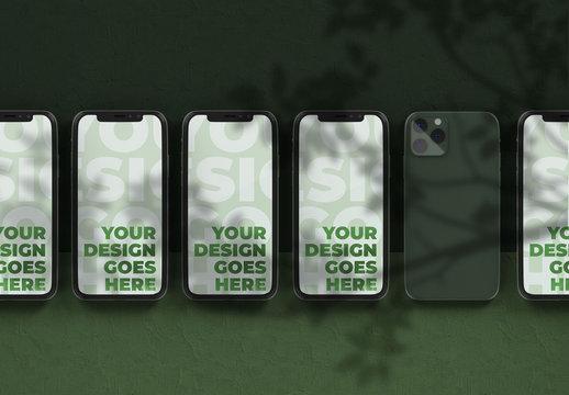 Smartphone Mockup with Plaster Background