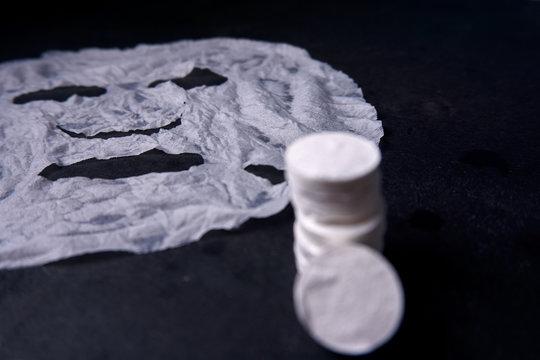 mascarilla facial hidratada con compresas
