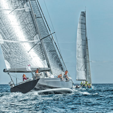 Sailing yacht regatta. Yachting. Sailing