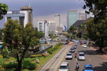 Jalan Medan Merdeka, in Jakarta on a sunny day