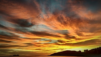 Scenic View Of Dramatic Sky At Sunset - fototapety na wymiar