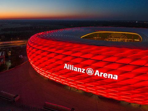 Allianz Arena in Munich, Germany. October 2018