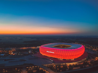 Allianz Arena - world-known stadium of Bayern Munich FC. October 2018, Munich, Germany.