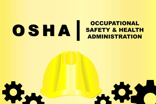 Occupational Safety and Health Administration or OSHA vector