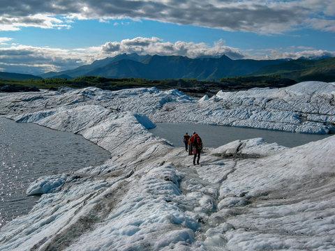 People On Matanuska Glacier