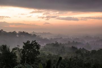 Fototapeten Grau Scenic View Of Landscape Against Sky During Sunset