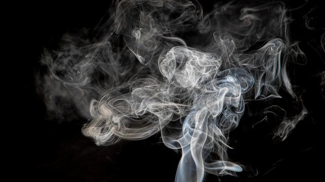 Smoke in dark background