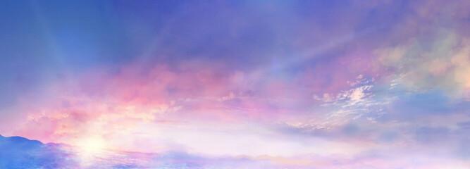 Fototapeten Rosa hell 朝焼けの雲海