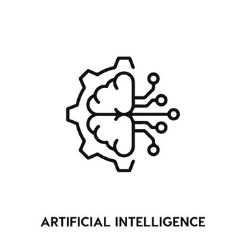 artificial intelligence icon vector. artificial intelligence icon vector symbol illustration. Modern simple vector icon for your design. artificial intelligence icon vector.