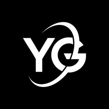 YG Letter Logo Design. Initial letters YG logo icon. Abstract letter YG Y G minimal logo design template. Y G letter design vector with black colors. yg logo