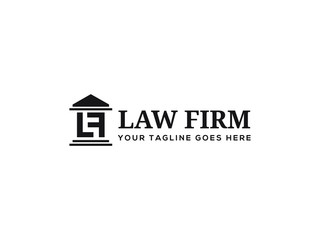 letter LF for law firm logo vector design