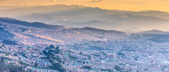 Poster Amérique du Sud Sunset over Bogota, Colombia, HDR Image