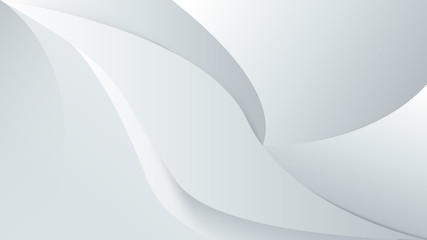 Wall Mural - Abstract white background with smooth lines. 3d Vector illustration