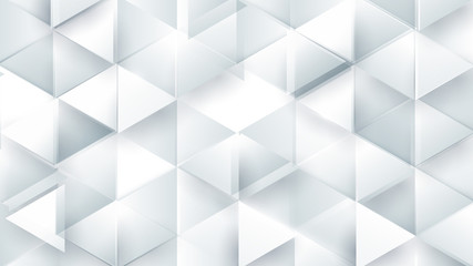 Wall Mural - Abstract white polygonal triangle geometric 3d texture. Black and white Colorful gradient mosaic backdrop. Vector illustration