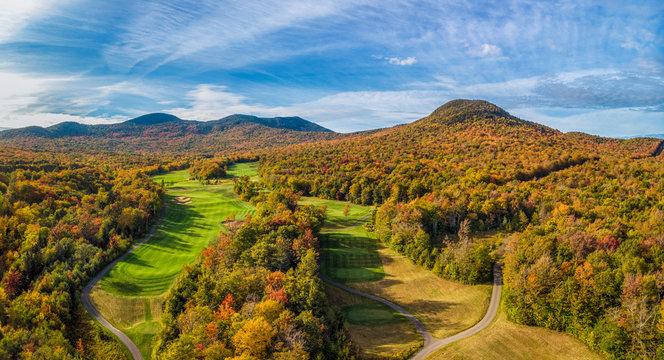 Jay Peak Resort Golf Club in Vermont in Autumn