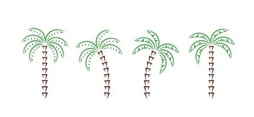 Palm tree logo. Isolated palm tree on white background