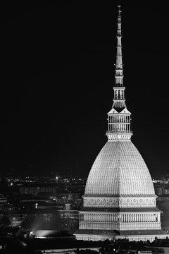 View Of Illuminated Mole Antonelliana At Night