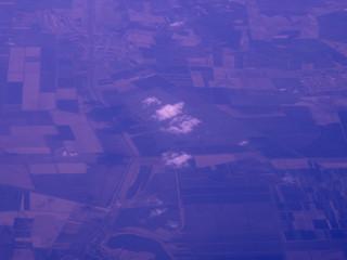Foto auf AluDibond Dunkelblau Aerial View Of Patchwork Landscape
