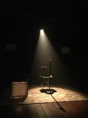 Empty Chair With Microphone On Stage - fototapety na wymiar
