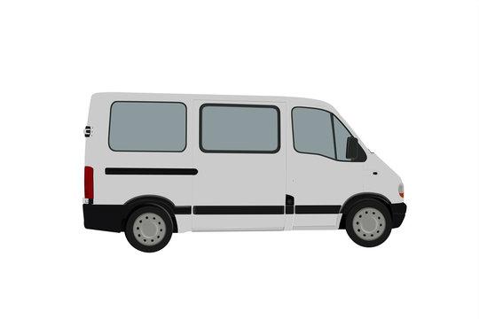 Passenger Van Illustrations 3D