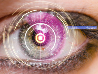 Concept of sensor implanted into human eye