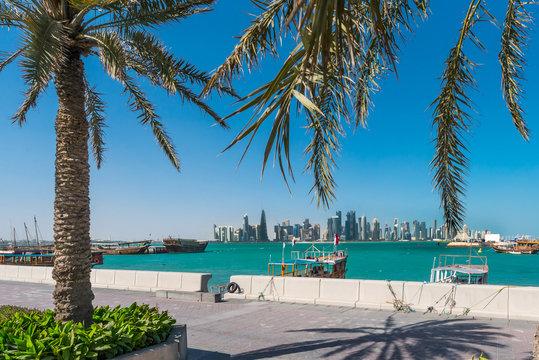 Doha Skyline from promenade