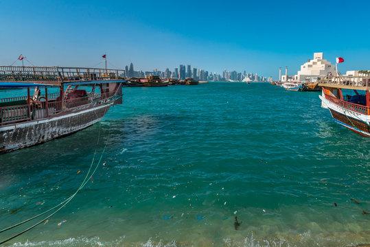 Doha Skyline ferom Corniche