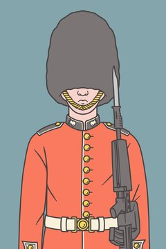 Illustration of a Queen's guard