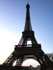 Papiers peints Rouge, noir, blanc Low Angle View Of Eiffel Tower