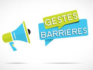 mégaphone : gestes barrières