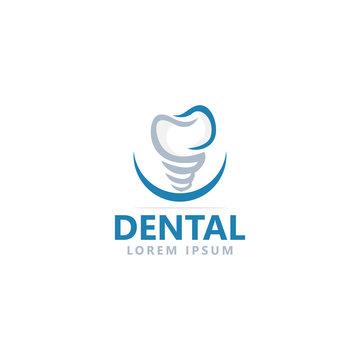 dental clinic care logo design template