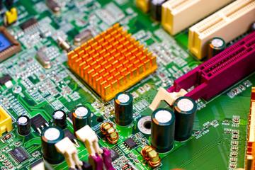 płyta główna komputera macro - fototapety na wymiar