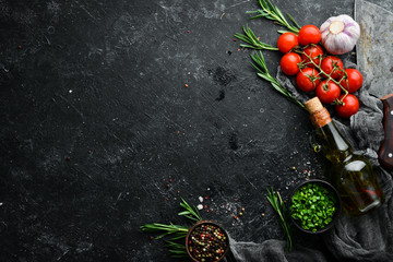 Fototapete - Black cooking banner. Free space for your text.